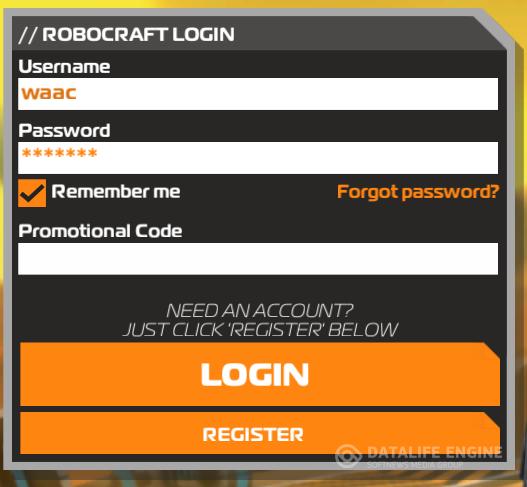 Регистрация в robocraft, начать играть в robocraft